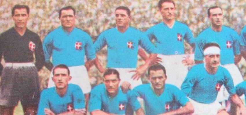 Italy Winning The World Cup 1934 - Blue Shirt